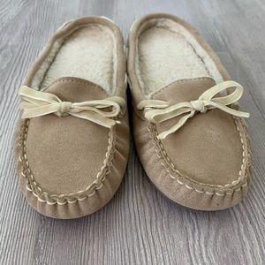 L.L.Bean Leather Scuff Slippers